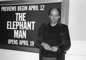 "Bernard Pomerance, playwright of ""The Elephant Man,"" in New York in 1979, the year the play debuted."