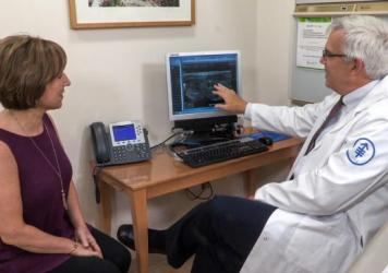 Dr. R. Michael Tuttle, an endocrinologist at New York's Memorial Sloan Kettering Cancer Center, talks with Debonis about an ultrasound of the thyroid tumor.