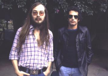 Walter Becker (left) and Donald Fagen of Steely Dan in 1977. Becker died on Sunday, Sept. 3 at 67 years old.