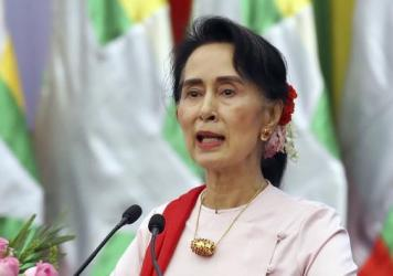"""Myanmar State Counsellor Aung San Suu Kyi has insisted that unspecified """"terrorists"""" and not the country's military are targeting the Muslim Rohingyas, who have been fleeing the country for weeks."""