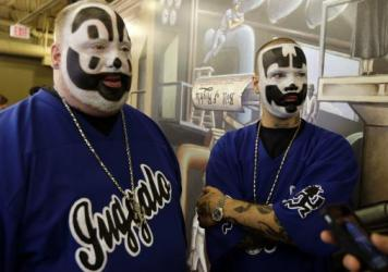 """Joseph """"Violent J"""" Bruce (left) and Joseph """"Shaggy 2 Dope"""" Utsler are members of the Insane Clown Posse. Fans of the band call themselves Juggalos."""