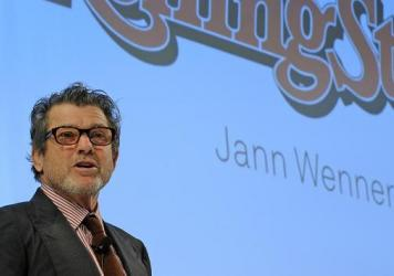 The controlling stake in <em>Rolling Stone</em> is being up for sale by Jann Wenner's company. Wenner, the magazine's founding editor and publisher, is seen here in 2011.