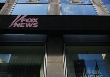 The News Corp. headquarters, owner of Fox News, in New York City. Fox News denies that a source in its story about Seth Rich's murder was defamed.