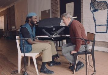 Devonté Hynes and Philip Glass met in Hynes' Chinatown loft for a conversation on a rainy spring day.
