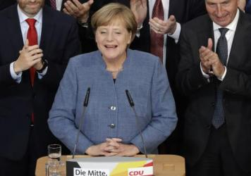 "Even though German Chancellor Angela Merkel's Christian Democratic Union party came in first in Sunday's parliamentary election, she said she ""would have preferred a better result."""