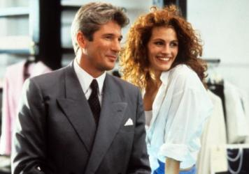 Richard Gere and Julia Roberts in a scene from the film <em>Pretty Woman</em>, 1990.