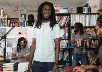 Chronixx performs a Tiny Desk Concert on July 10, 2017. (Photo: Liam James Doyle/NPR)