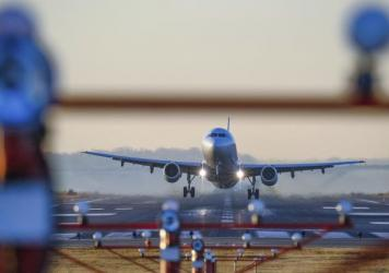 A passenger jet takes off from Reagan National Airport in Washington, D.C., last year.
