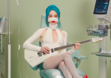 """A still from St. Vincent's """"Los Ageless"""" video."""