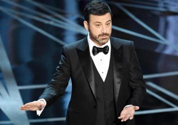 Host Jimmy Kimmel during his opening monologue at the 89th Annual Academy Awards.