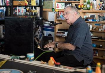 Randy Newman performs a Tiny Desk Concert on August 2, 2017. (Photo: Liam James Doyle/NPR)