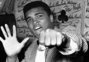 On May 27, 1963, Ali (known then as Cassius Clay) held up five fingers in a prediction of how many rounds it would take him to win against British boxer Henry Cooper. In June 1963, he fulfilled his prediction and was declared the bout winner after five rounds.