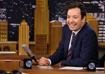 """""""I'm meant to make people happy. That's my job,"""" says <em>Tonight Show</em> host Jimmy Fallon."""