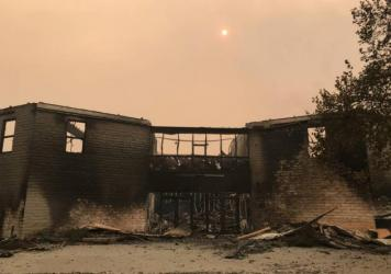 Inside the Anova school in Santa Rosa after the Tubbs Fire.