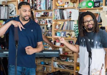 The Perceptionists Perform a Tiny Desk Concert on Aug. 16, 2017. (Christina Ascani/NPR)