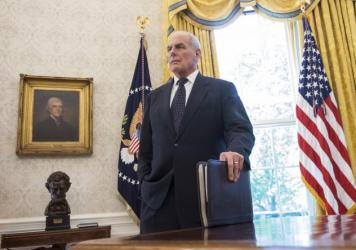 White House chief of staff John Kelly took the podium at the press briefing on Thursday, defending the president's response to the deaths of U.S. soldiers in Niger.