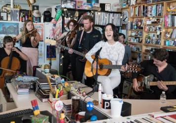 Japanese Breakfast performs a Tiny desk Concert on Sept. 7, 2017. (Christina Ascani/NPR)