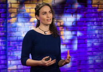 Megan Phelps-Roper on the TED stage