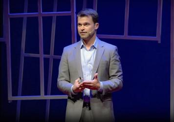 Robb Willer on the TED stage