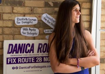 Danica Roem, a Democrat who won a race for delegate in Virginia's 13th Congressional District, at her campaign office in September. Roem is the first transgender person elected to a state legislature.
