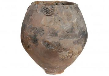 A neolithic jar from Khramis Didi-Gora, Georgia. The country has long prided itself on its winemaking tradition. A new analysis of ancient Georgian jars confirms that tradition goes back 8,000 years.