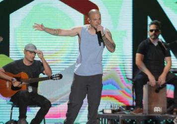 """Rene """"Residente"""" Perez performs onstage at Univision and Fusion host RiseUp AS ONE on October 15, 2016. The artist is nominated nine times at the 2017 Latin Grammys."""