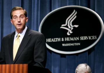 Alex Azar, who was deputy secretary for Health and Human Services in the George W. Bush administration, is President Trump's pick to replace Dr. Tom Price as head of the department.