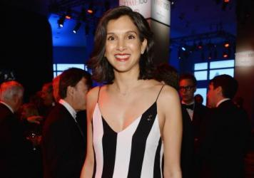 Radhika Jones, then deputy managing editor of <em>Time</em>, seen at a 2014 gala thrown by the magazine in New York City.