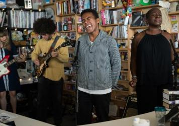 Benjamin Booker performs a Tiny Desk Concert on Oct. 24, 2017. (Claire Harbage/NPR)