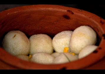 Rosogolla, a popular Indian treat, is commonly made with cottage cheese and sugar syrup. India recently granted the eastern state of Bengal ownership rights for the dessert.
