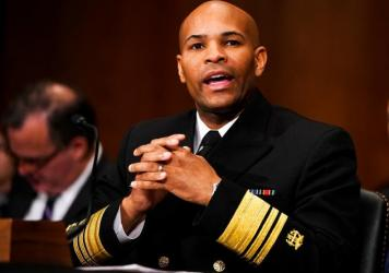 U.S. Surgeon General Jerome Adams, shown here testifying before a Senate committee in 2017, says President Trump's top health priority is addressing opioid addiction.
