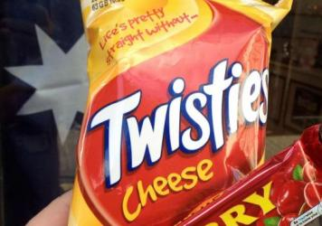 Suggested tag line for Twisties marketers: With great power comes great responsibility.