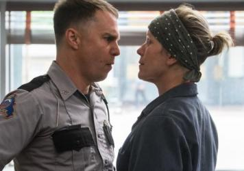 Sam Rockwell and Frances McDormand star in the film <em>Three Billboards Outside Ebbing, Missouri.</em>