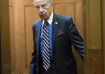 Sen. Chuck Grassley, R-Iowa, arrives at the Capitol in Washington, in a photo from September.