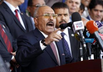 Ali Abdullah Saleh gave a speech to supporters in Yemen's capital Sanaa on Aug. 24, 2017. He never wavered in his belief that only he could lead the Yemenis, even though he fueled societal divisions by playing enemies off one another to weaken his opposi