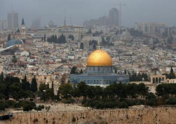 A picture taken from the Mount of Olives shows the Old City of Jerusalem with the Dome of the Rock. President Trump on Wednesday recognized Jerusalem as Israel's capital, upending decades of U.S. policy and ignoring dire warnings from Arab and Western allies alike.