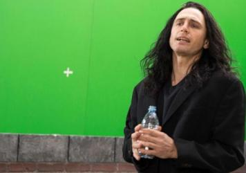 """James Franco plays eccentric filmmaker Tommy Wiseau in <em>The Disaster Artist</em>. Franco says Wiseau """"looks sort of like a mix between a vampire and a pirate and Michael Jackson. ... He has long black hair that looks like it's dyed with magic marker."""""""