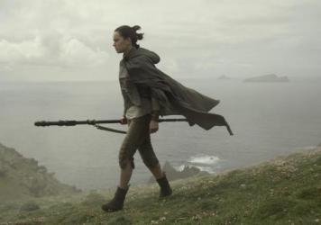 Rey (Daisy Ridley) may or may not be the title character of <em>Star Wars: The Last Jedi</em>. We're not telling.