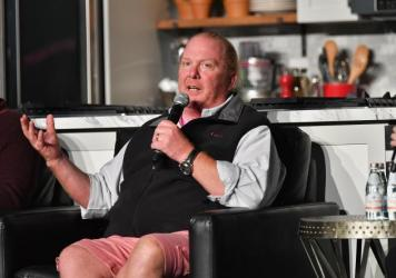 Celebrity chef Mario Batali in October in New York City. Batali said Monday he was stepping aside from day-to-day running of his businesses amid allegations of sexual misconduct by women who worked for him.