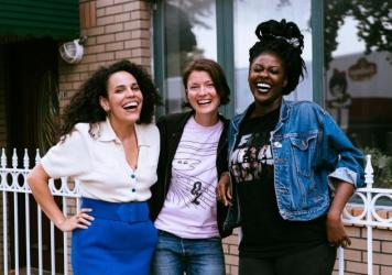 Commissioned by Tune-Yards' radio show, Xenia Rubinos (left) teamed up with Olga Bell and Sammus to create a new song.