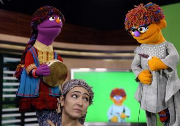 The MacArthur Foundation has awarded $100 million to Sesame Workshop and the International Rescue Committtee to create a version of Sesame Street aimed at Syrian refugee children. Above: Characters from the Afghani version of the show that premiered this