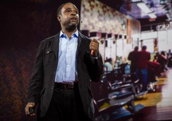 Joseph Ravenell on the TED stage