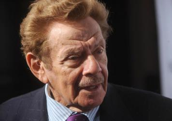 Jerry Stiller performed in a comedy duo with his wife, Anne Meara, and also appeared in films and on Broadway and television. Onscreen, he was George Costanza's father; in real life, he was dad to actor Ben Stiller. He's pictured above in New York City i