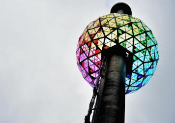 The Philips-made ball was tested at One Times Square on Dec. 30, 2016 in New York City.