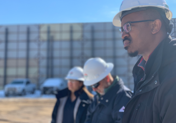 Our Across America team took a tour of a fracking facility with SRC Energy's Julie Tannehill, their completions engineering manager and Mike Eberhard, SRC's chief operating officer.