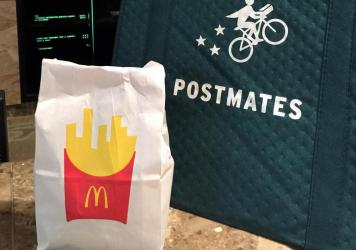 Postmates, the food delivery platform, is part of a federal lawsuit challenging California's new law that makes it harder to classify workers as contractors.