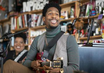John Batiste performs during Tiny Desk on November, 8 2019. (Photo by Mhari Shaw/NPR)