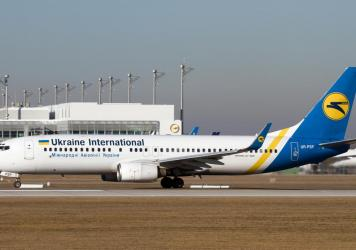 A Ukraine International Airlines (UIA) Boeing 737-800 on the  runway at Munich airport in 2016. The plane is similar to the one that crashed in Iran shortly after takeoff on Wednesday.