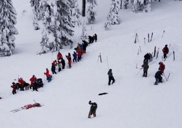 Two skiers were killed in an avalanche at Idaho's Silver Mountain Resort on Tuesday.