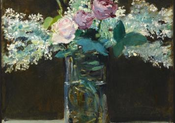<em>Vase of White Lilacs and Roses,</em> 1883
